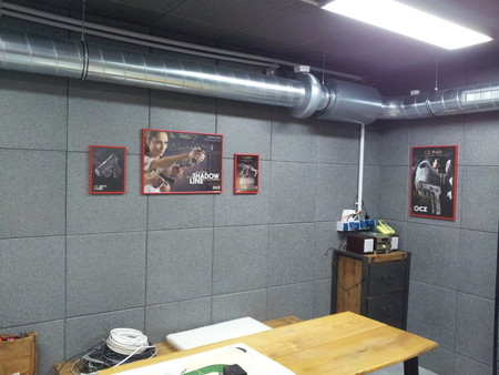 Soundproofing a shooting range with rubber tiles