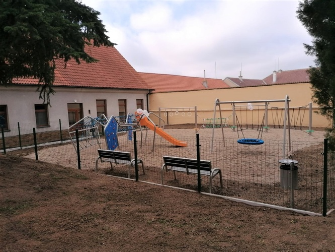 Our new children playground in Horní Újezd, Czech Republic.