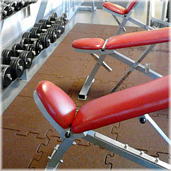 Fitness, gyms and health clubs flooring