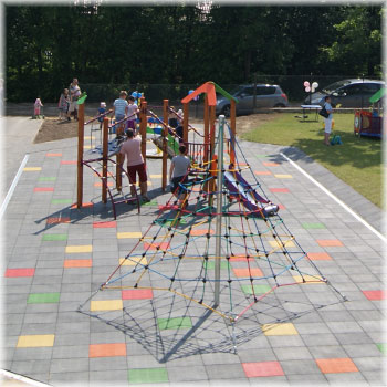 Safety rubber tiles for children playgrounds